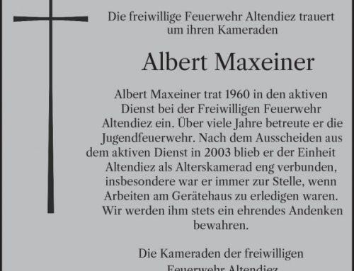 Nachruf – Albert Maxeiner